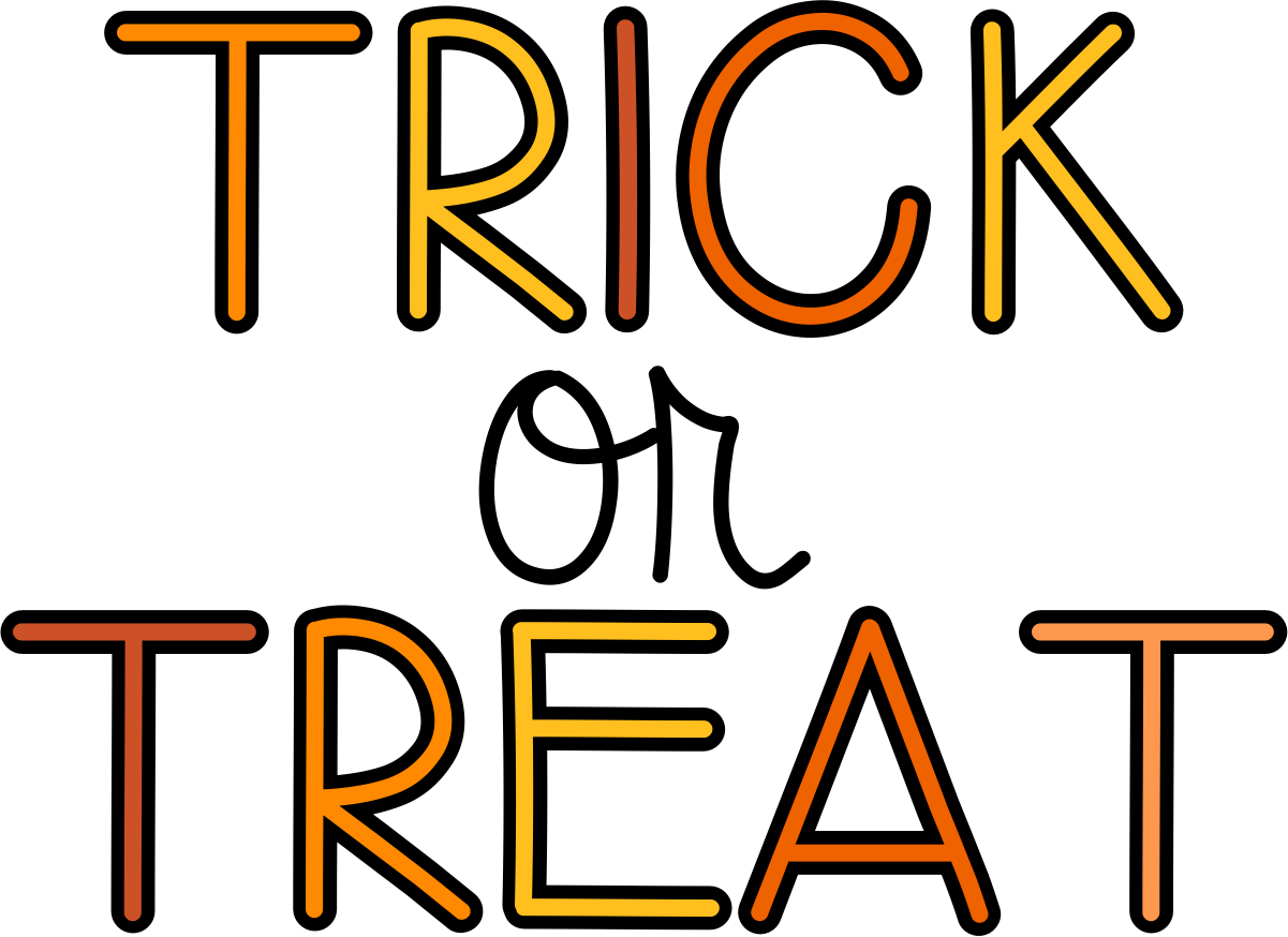 Halloween trick or treat clipart