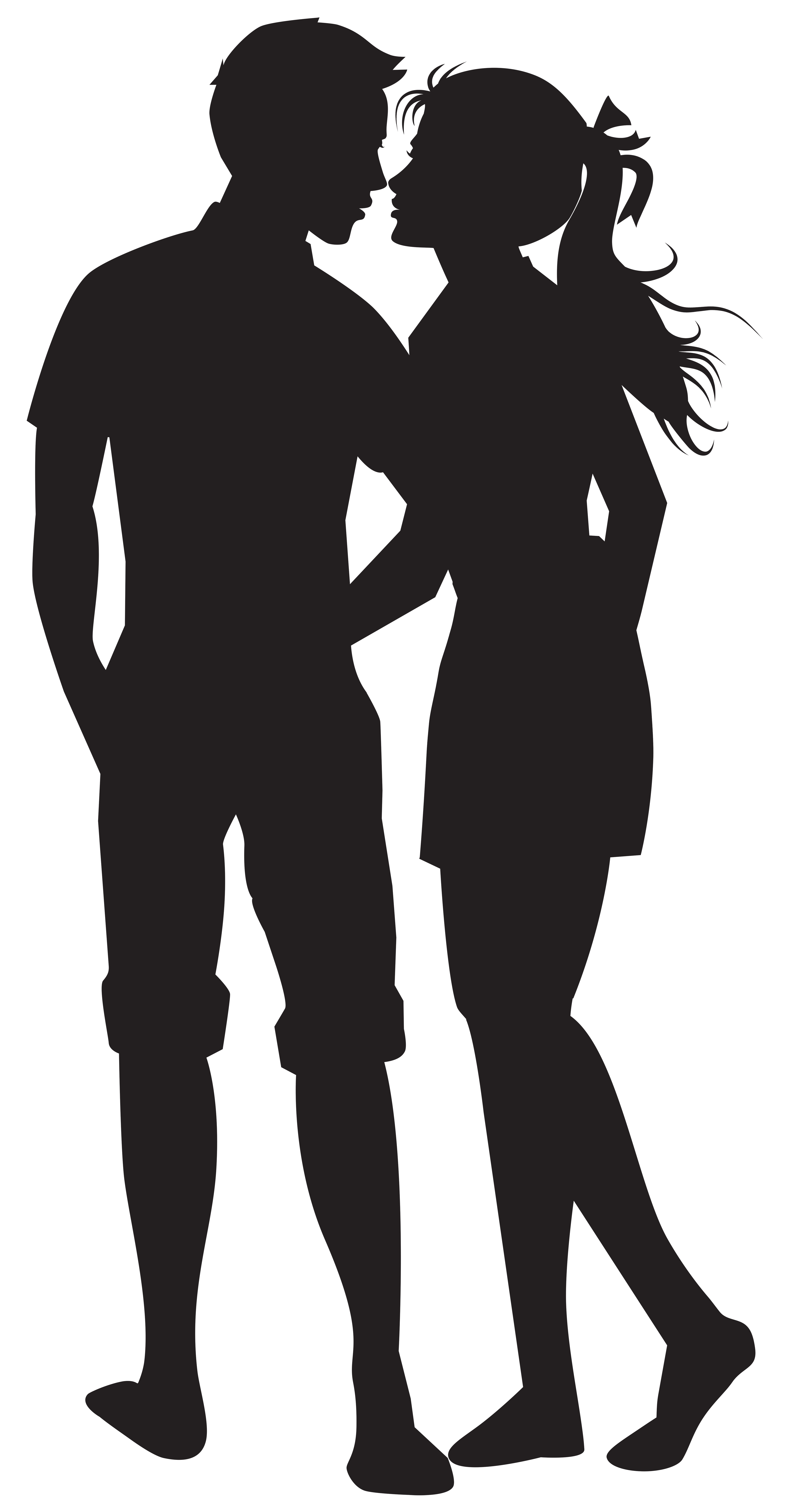 Clipart halloween couple clip art library download Couple PNG Silhouettes Clip Art Image | Gallery Yopriceville - High ... clip art library download