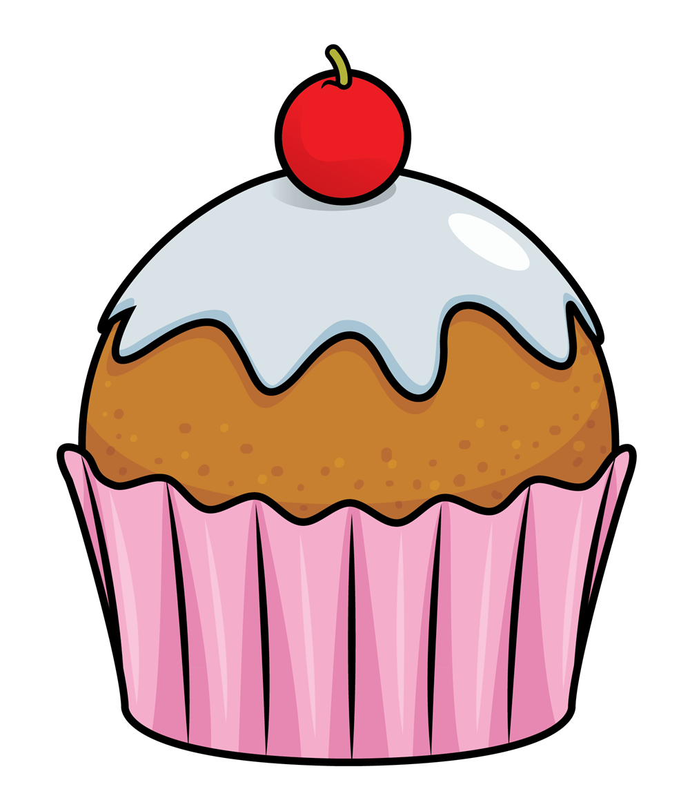 Cupcake with big heart inside clipart image black and white Image result for transparent cupcake art | backgrounds | Pinterest ... image black and white
