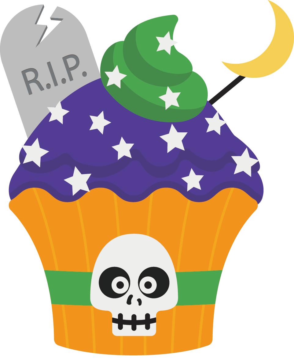 Clipart halloween cupcake clip art free library Cartoon Halloween cupcakes 962*1188 transprent Png Free Download ... clip art free library