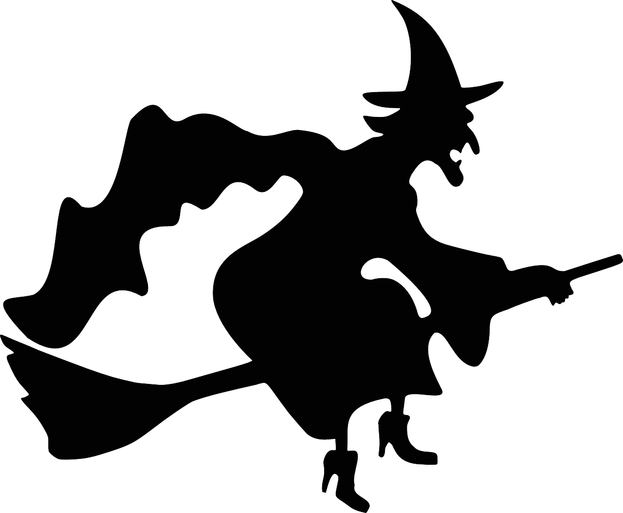 Clipart of witch and pumpkin black and white clip art free download Scary Witch Silhouette at GetDrawings.com | Free for personal use ... clip art free download