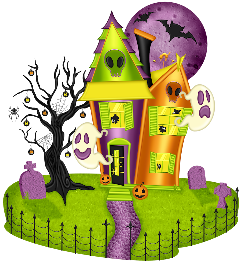 Halloween green clipart haunted house stock 28+ Collection of Haunted House Halloween Clipart | High quality ... stock