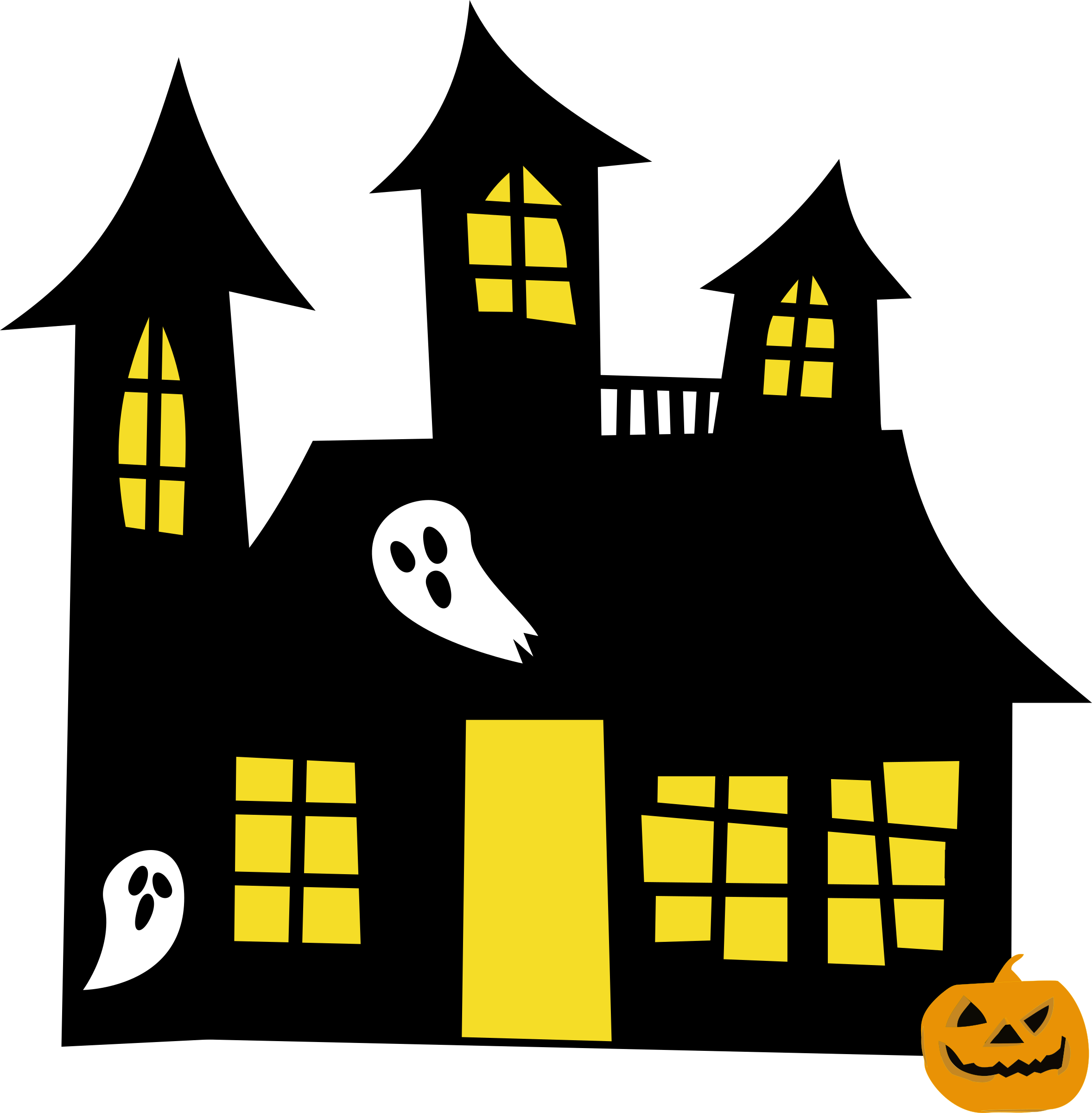 Haunted house clipart png svg free Clipart - Haunted House Remix svg free