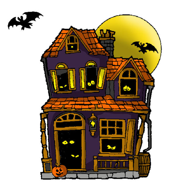 Clipart haunted house svg free download 28+ Collection of Haunted House Clipart Halloween | High quality ... svg free download