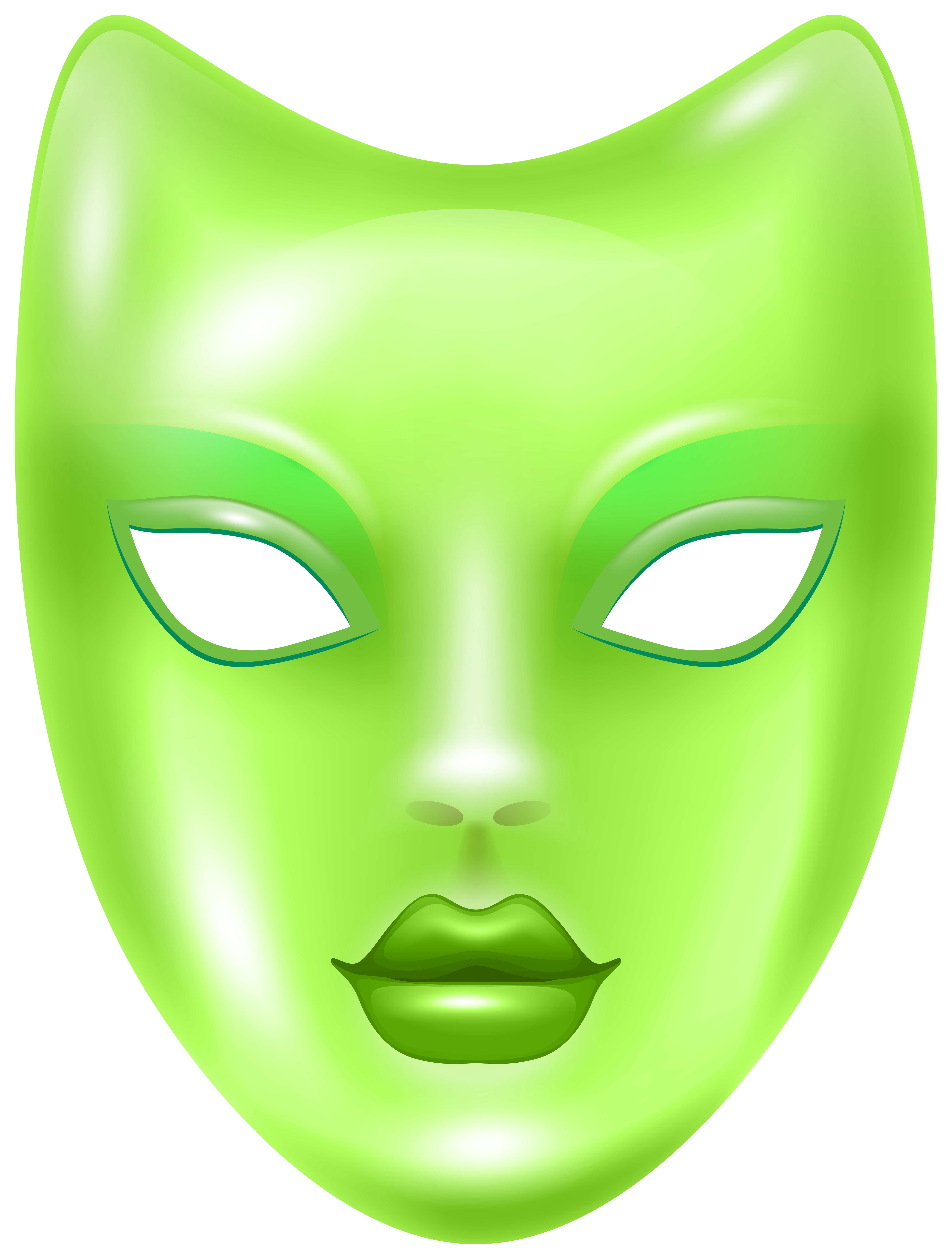 Clipart halloween mask clipart royalty free Carnival Face Mask Green PNG Clip Art Image | Gallery Yopriceville ... clipart royalty free