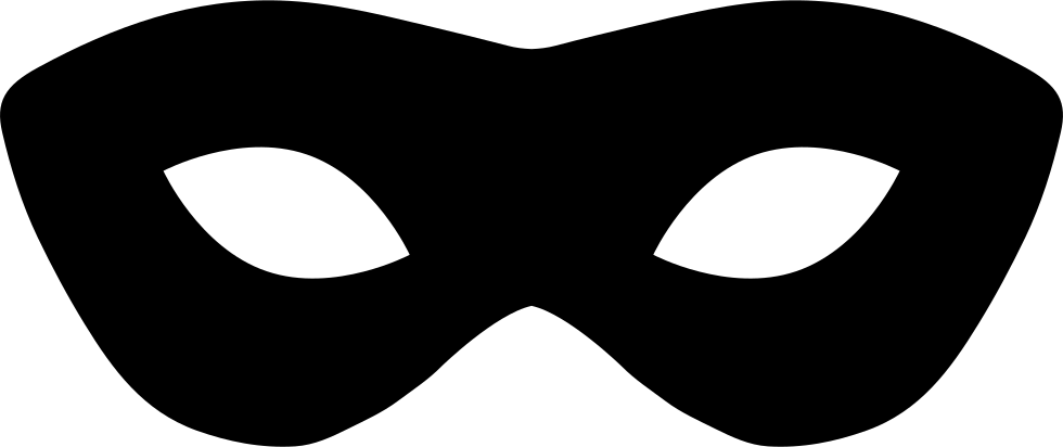 Clipart halloween masks clip black and white Mask Silhouette at GetDrawings.com | Free for personal use Mask ... clip black and white