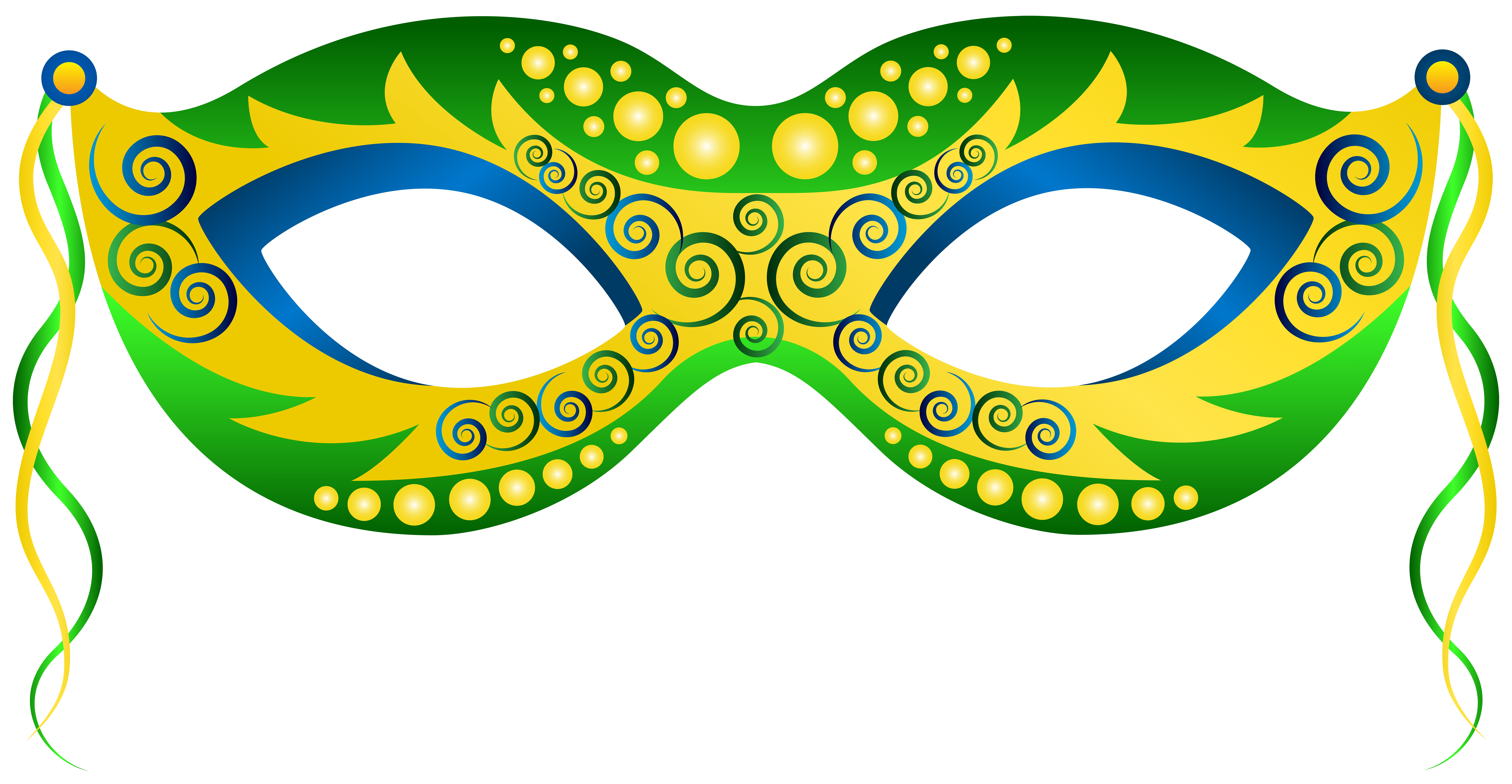 Clipart halloween masks vector black and white stock Green Yellow Carnival Mask PNG Clip Art Image | Gallery ... vector black and white stock
