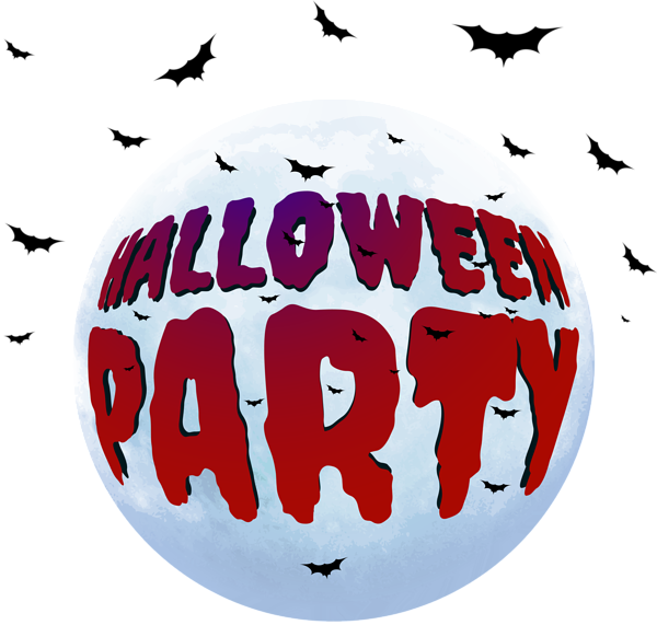 Halloween party clipart kids graphic black and white stock Halloween Party PNG Clip Art Image | Gallery Yopriceville - High ... graphic black and white stock