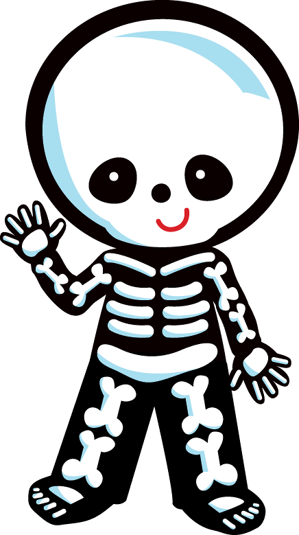Minus say hello stencils. Cute halloween skeleton clipart