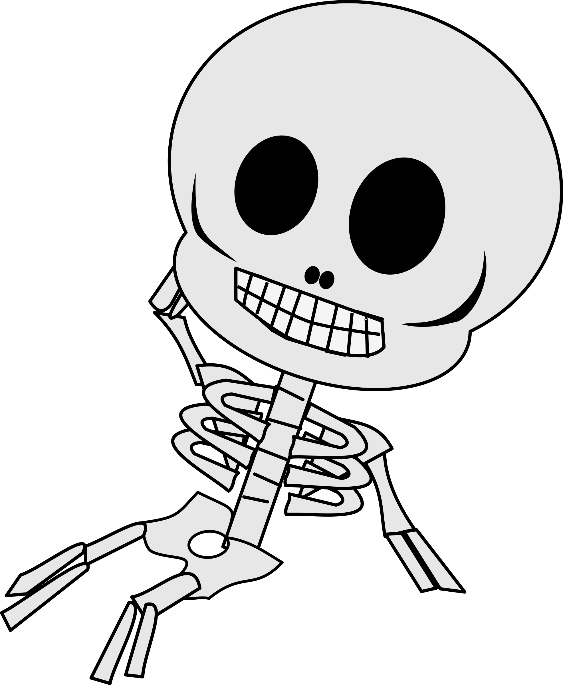 Clipart skeleton halloween clip royalty free library Clipart - reclining skeleton clip royalty free library