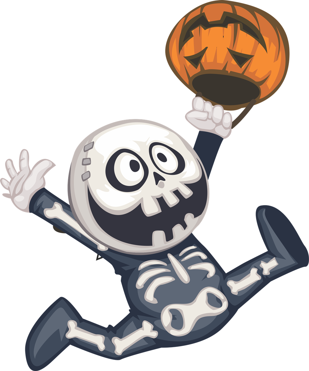 collection of high. Cute halloween skeleton clipart