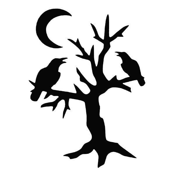 Pumpkin carving clipart black and white vector Halloween Tree Silhouette Pattern at GetDrawings.com | Free for ... vector