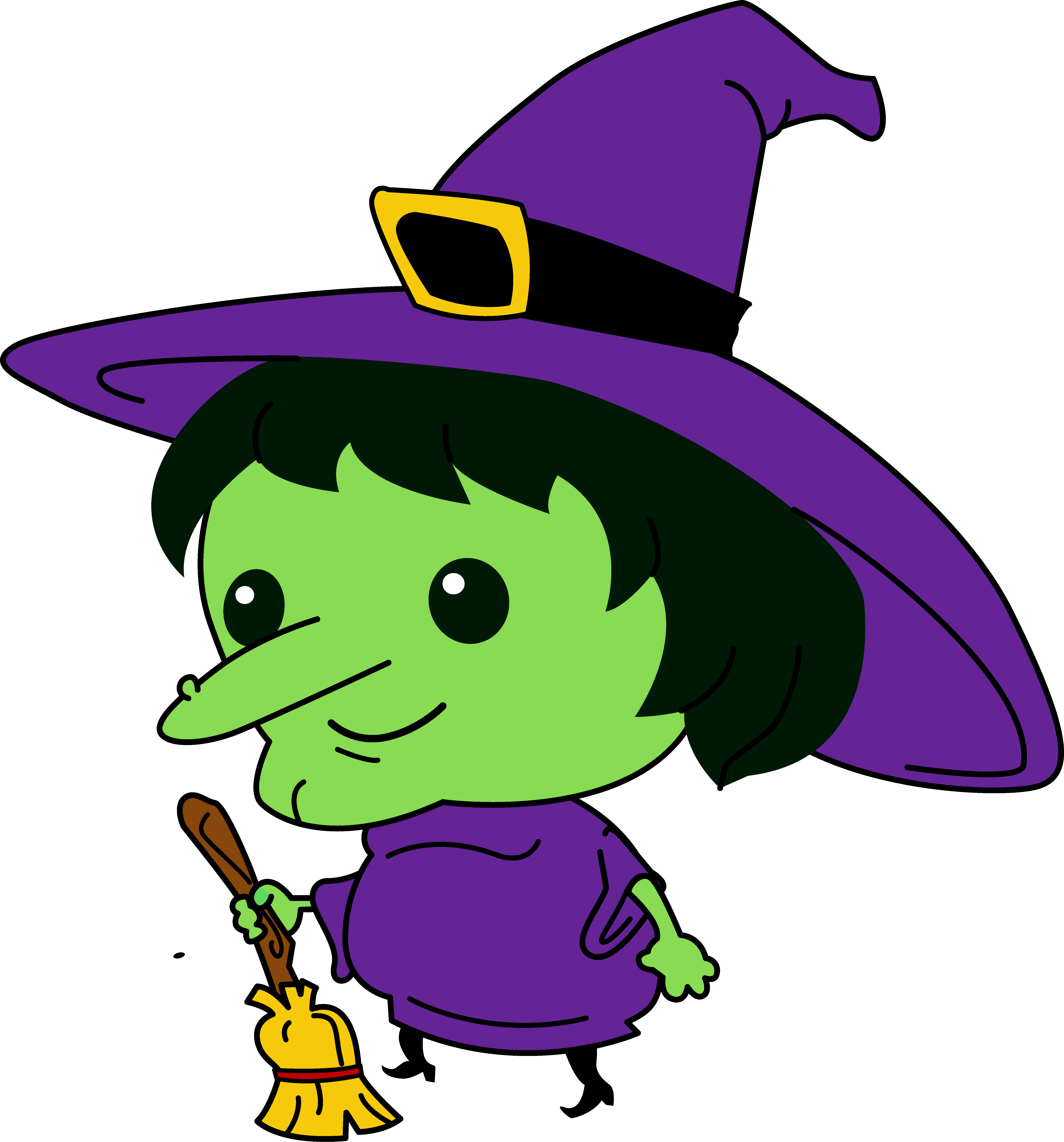 Halloween witch head clipart