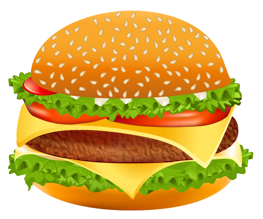 Hamburger free clipart banner royalty free Hamburger PNG Vector Clipart Image | Gallery Yopriceville - High ... banner royalty free
