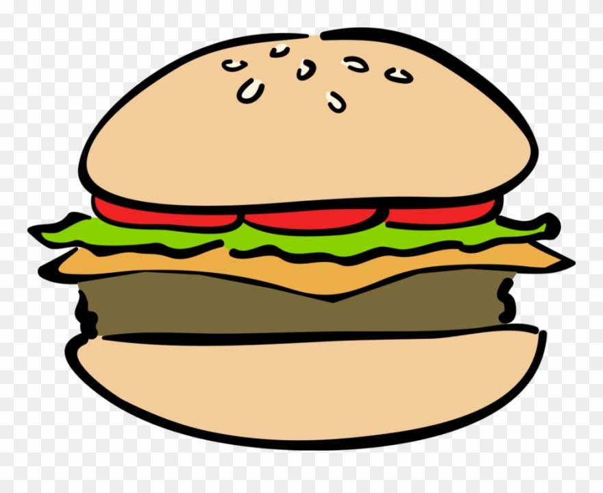Clipart hamburguer clipart transparent Burger Meal Vector Image Illustration Of Fast - Hamburger Clipart ... clipart transparent