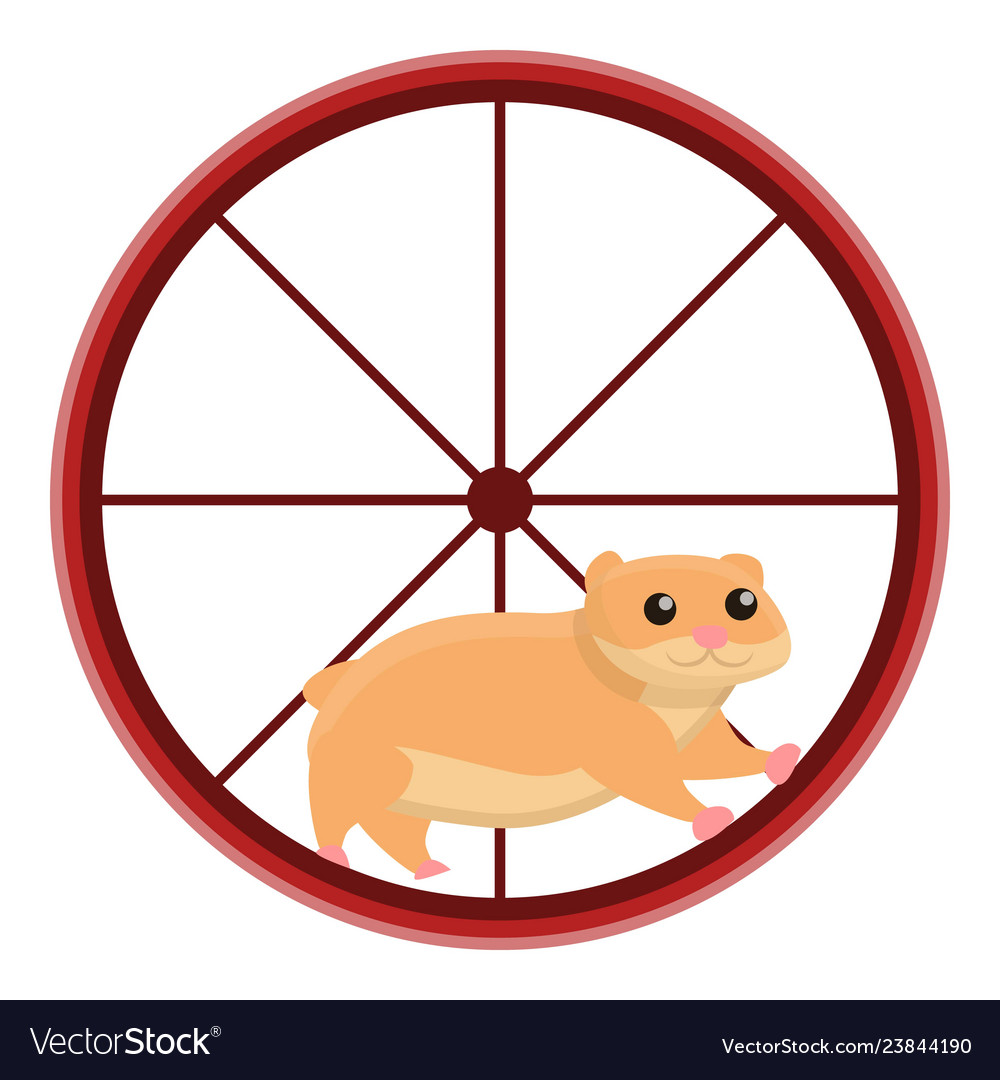 Clipart hamster wheel black and white library Hamster in wheel icon cartoon style Royalty Free Vector black and white library
