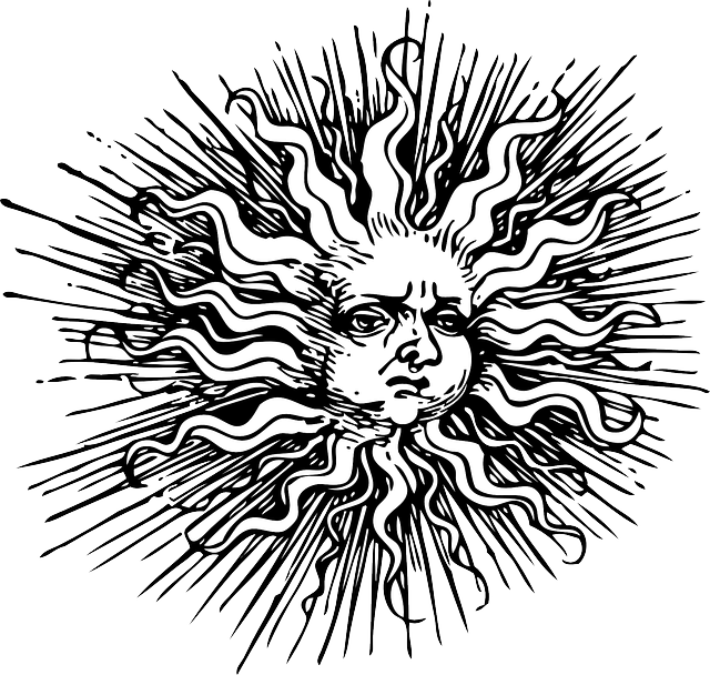 Trippy sun clipart clip royalty free stock old, black, outline, moon, face, human, sun, white | Silhouettes 2 ... clip royalty free stock