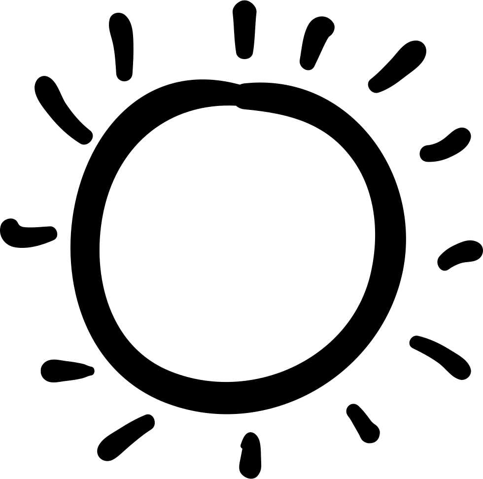 Clipart hand drawn sun outline graphic black and white download Sun Hand Drawn Irregular Shape Svg Png Icon Free Download (#35462 ... graphic black and white download