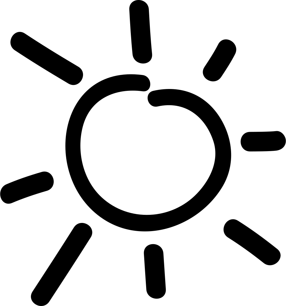 Clipart hand drawn sun outline graphic freeuse stock Sun Hand Drawn Day Symbol Svg Png Icon Free Download (#47373 ... graphic freeuse stock
