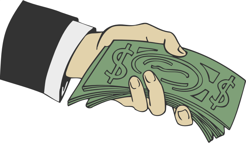 Hand with money clipart vector freeuse stock Clipart - Hand offering money vector freeuse stock