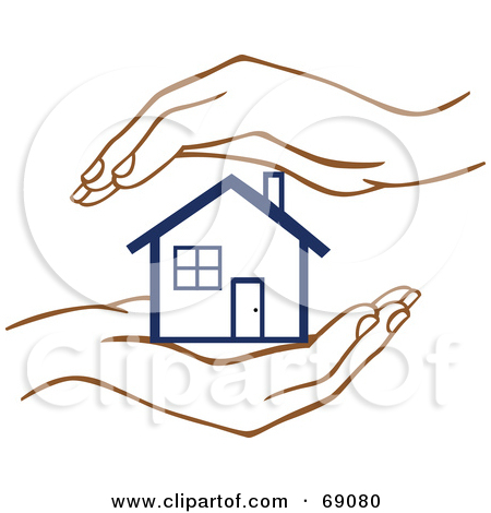 Clipart hand in hand. House clipartfest buyer logo