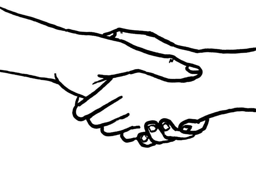 Personalization and advanced attribution. Clipart hand in hand