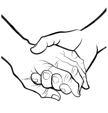 Clip art . Clipart hand in hand