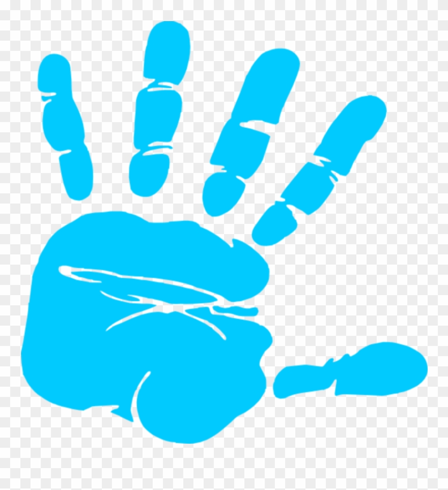 Clipart of hand print clip black and white stock Handprint Clipart Blue Hand Print Clip Art - Kid Handprint Clipart ... clip black and white stock