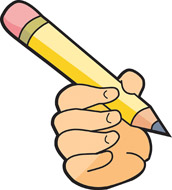 Clipart hand with pencil png royalty free stock hand holding a pencil | Clipart Panda - Free Clipart Images png royalty free stock