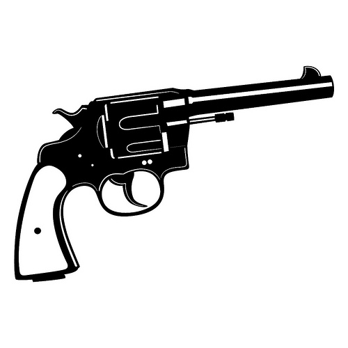 Pistol clipart black and white freeuse Free Handgun Cliparts, Download Free Clip Art, Free Clip Art on ... freeuse