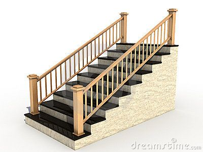 Clipart handrails image free library Marble staircase with wooden handrail №3 | stairs | Marble staircase ... image free library