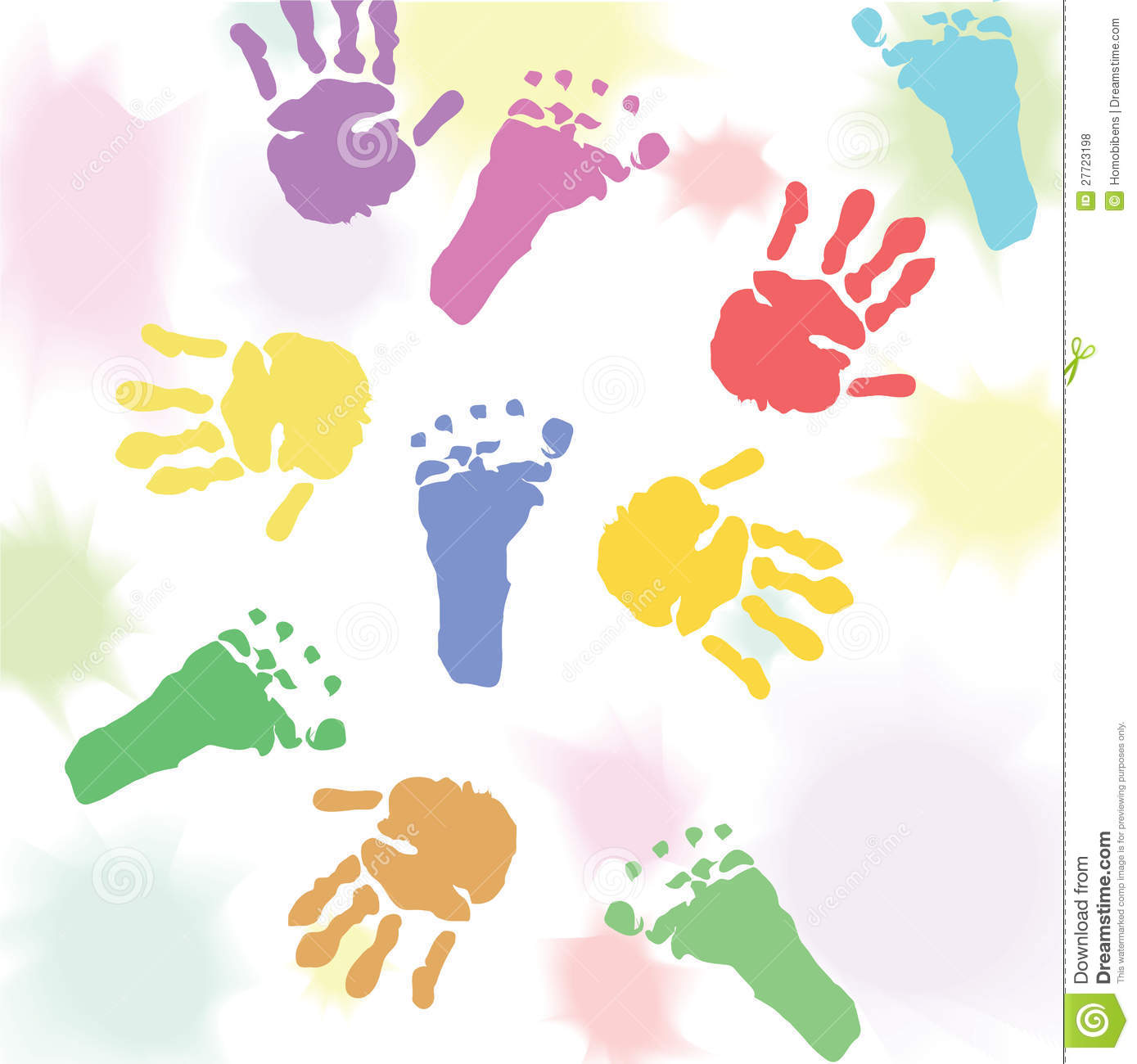 Clipart hands feet vector royalty free Prints baby hands and feet | Clipart Panda - Free Clipart Images vector royalty free