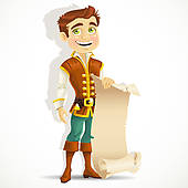 Clipart handsome prince banner transparent download Prince with a scroll of | Clipart Panda - Free Clipart Images banner transparent download
