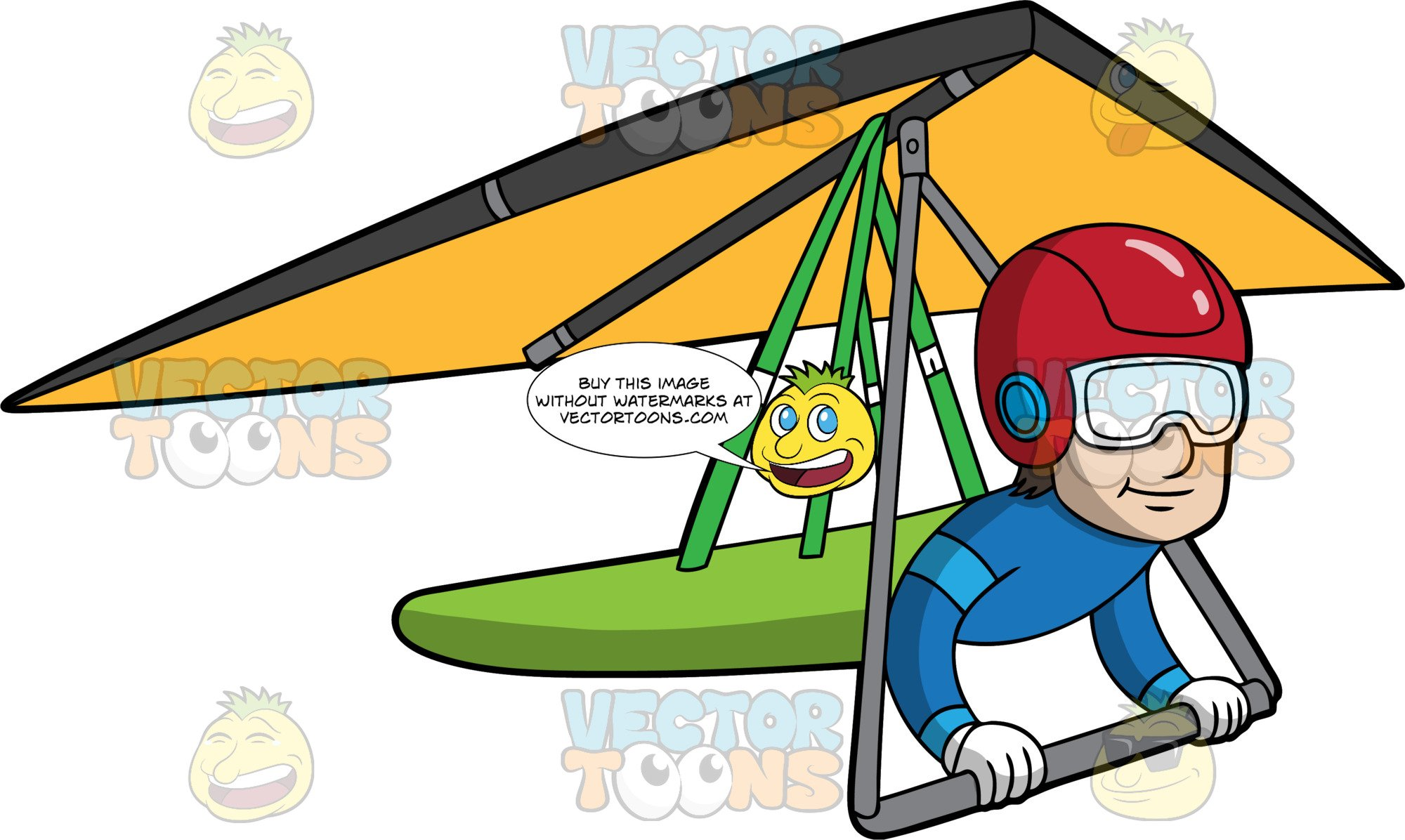 Clipart hang glider