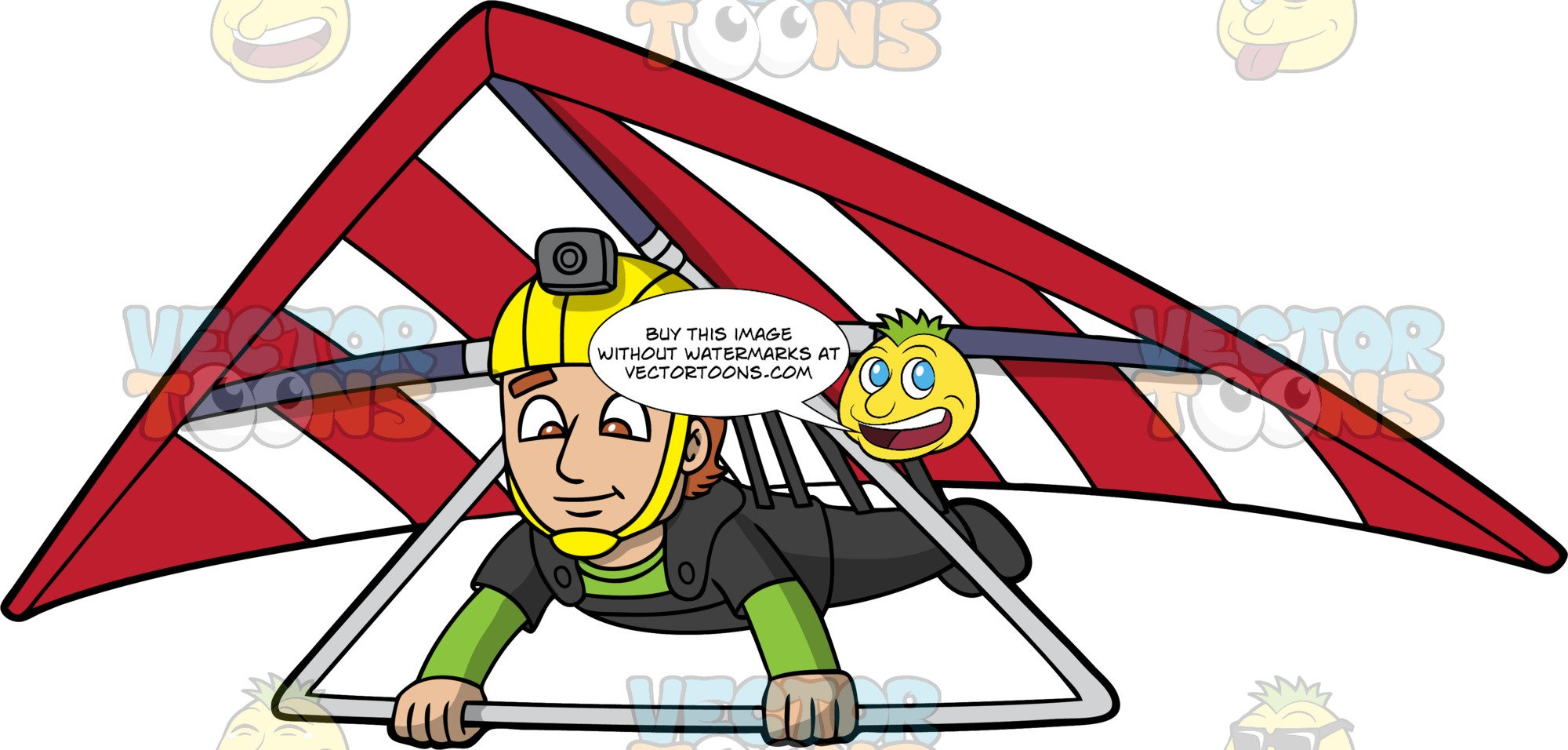 Clipart hang glider image freeuse library A Man Gliding Through The Air On His Hang Glider image freeuse library