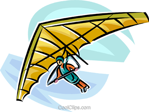 Clipart hang glider vector black and white library hang glider Royalty Free Vector Clip Art illustration -vc063720 ... vector black and white library