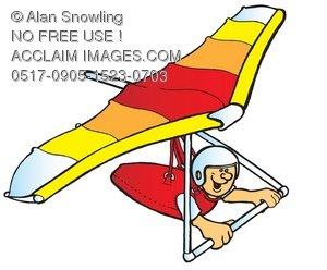 Clipart hang glider clipart transparent download Hang Glider Turning Clipart Illustration clipart transparent download