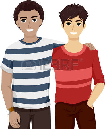 stock vector illustration. Clipart hanging out