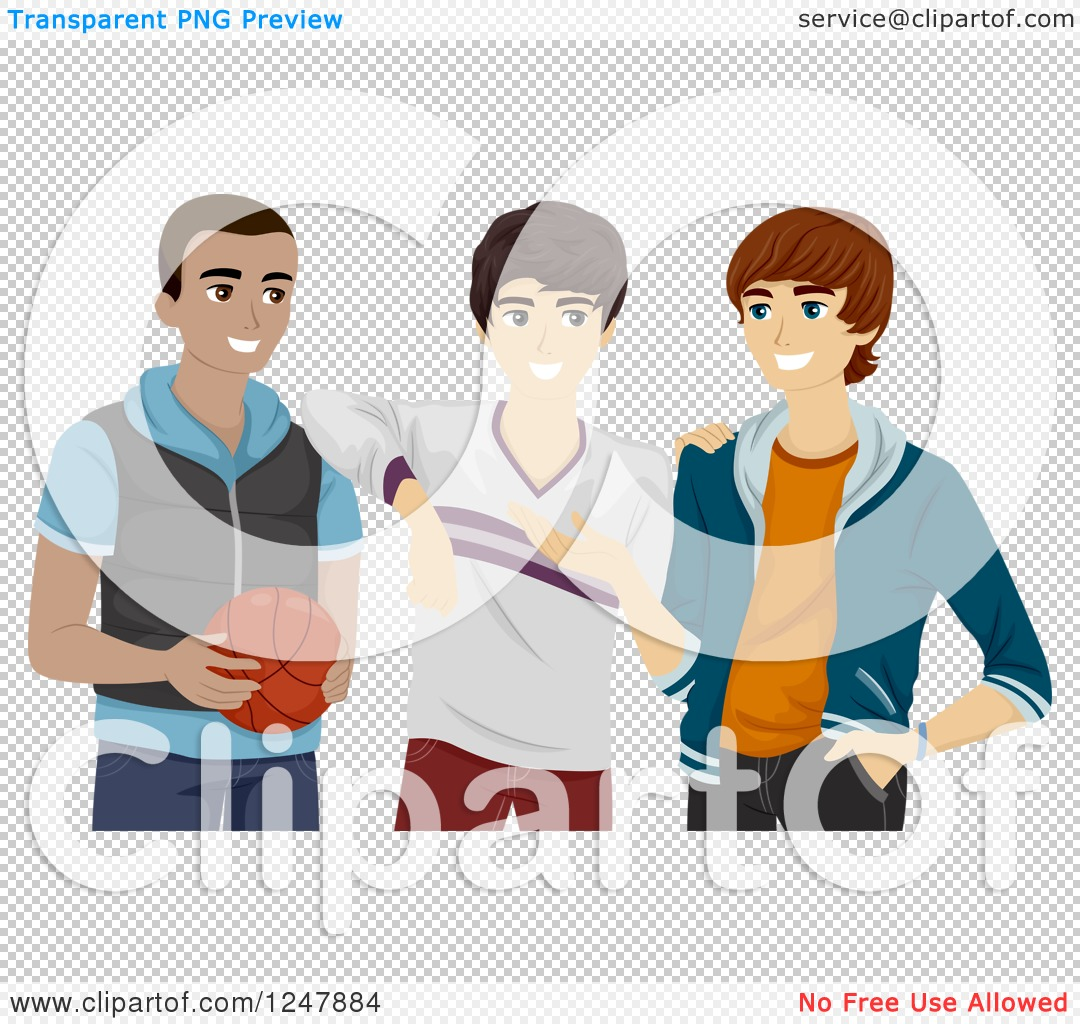 Clipart hanging out png royalty free Clipart of a Teenage Guys Hanging out with a Basketball - Royalty ... png royalty free