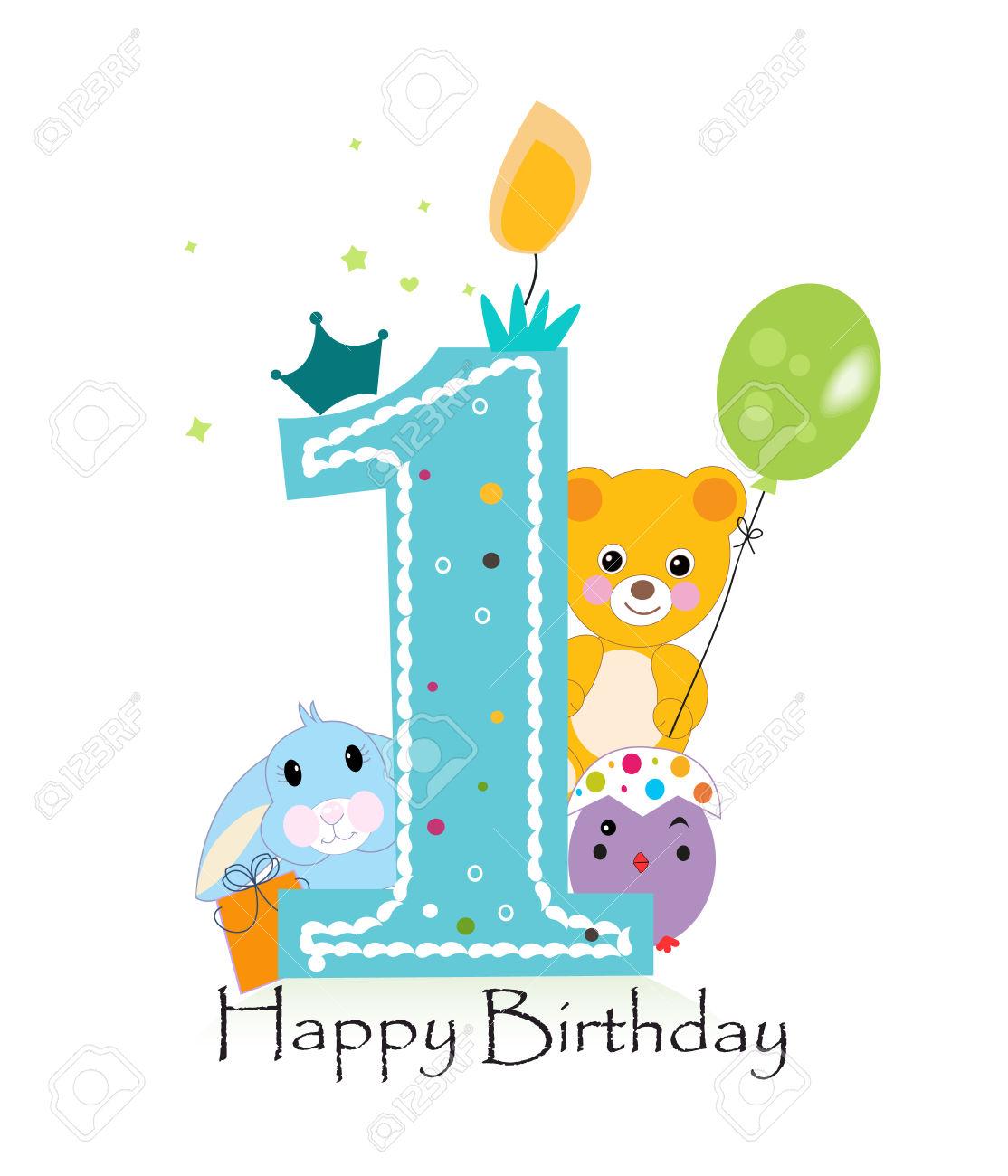 Clipart happy 1st birthday boy clip art Baby boy 1st birthday clipart - ClipartFest clip art