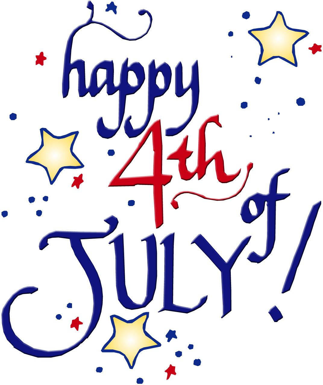 Clipart happy 4th of july vector freeuse library Happy 4th of July | Other | 4th of july clipart, 4th of july images ... vector freeuse library