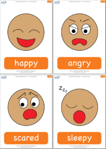 Clipart happy angry scared sleepy picture freeuse If You\'re Happy - Super Simple Songs picture freeuse