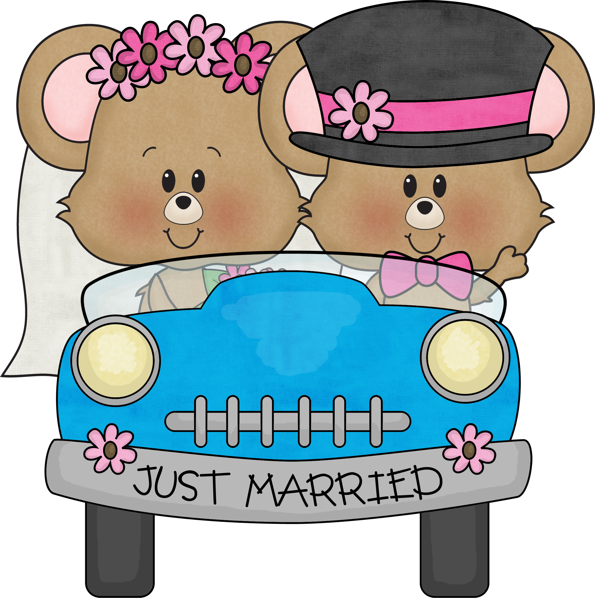 Clipart happy anniversary free jpg freeuse library Dibujos. Clipart. Digi stamp - Wedding - Just Married | Happy ... jpg freeuse library