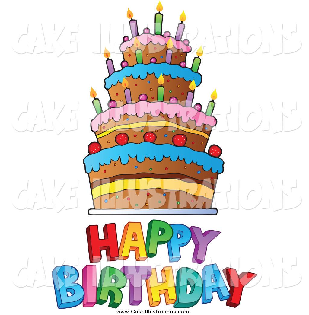 Clipart happy birthday cake clip freeuse stock Clipart happy birthday cake - ClipartFest clip freeuse stock