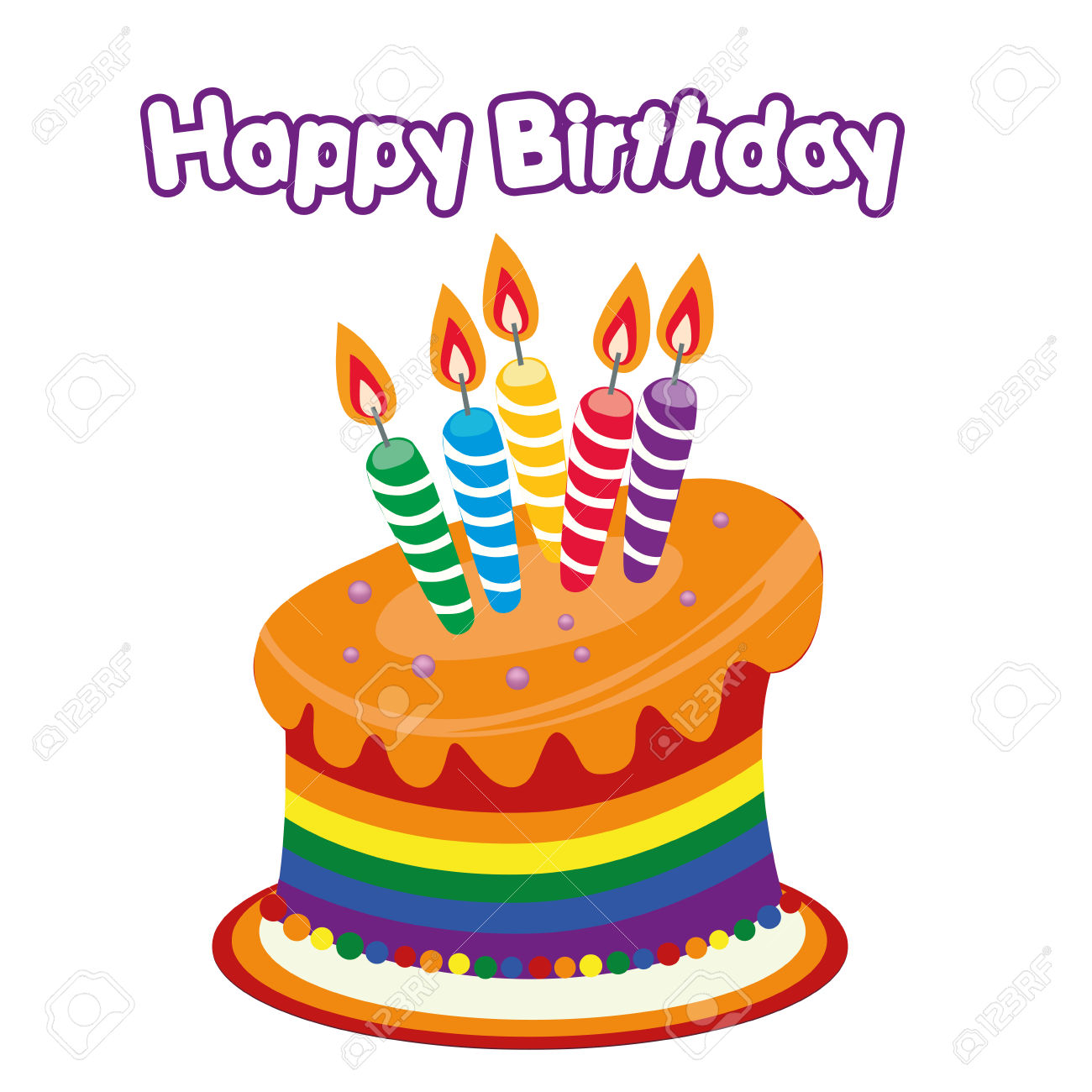 Clipart happy birthday cake vector royalty free stock Happy Birthday Cake Clipart a Colored Happy Birthday Cake ... vector royalty free stock