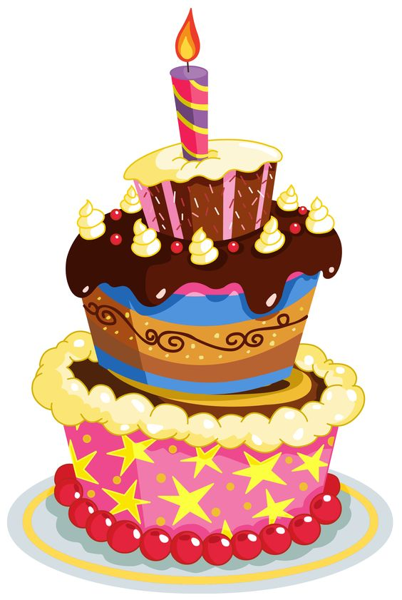 Clipart happy birthday cake svg library Colorful Birthday Cake PNG Clipart | happy birthday | Pinterest ... svg library
