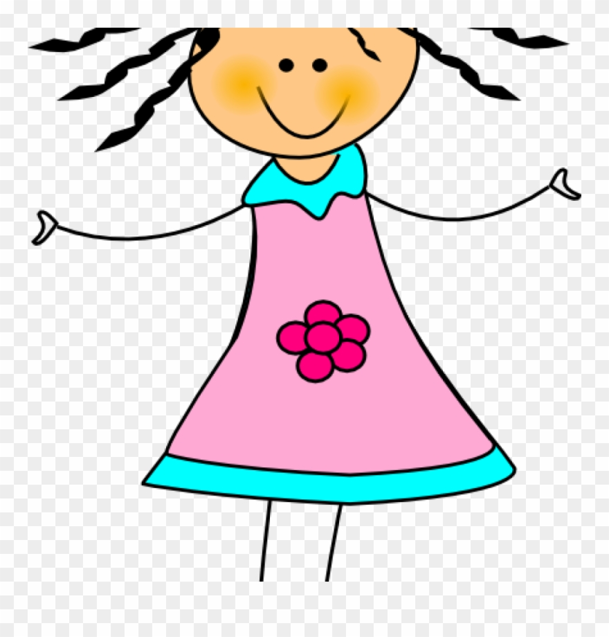 Clipart palo jpg library stock Girls Cliparts Happy Girl Clip Art At Clker Vector - Muñeca De Palo ... jpg library stock