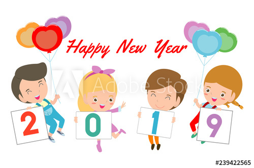 Clipart happy new year 2019 for kids clipart free download kids holding a signs 2019. Merry Christmas and Happy New Year 2019 ... clipart free download