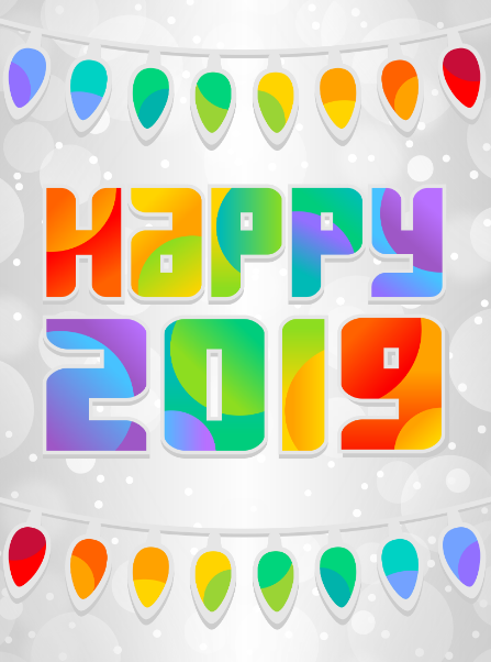 Clipart happy new year 2019 for kids svg black and white stock Happy New Year 2019 Clipart, GIF Animated Images For Kids ... svg black and white stock