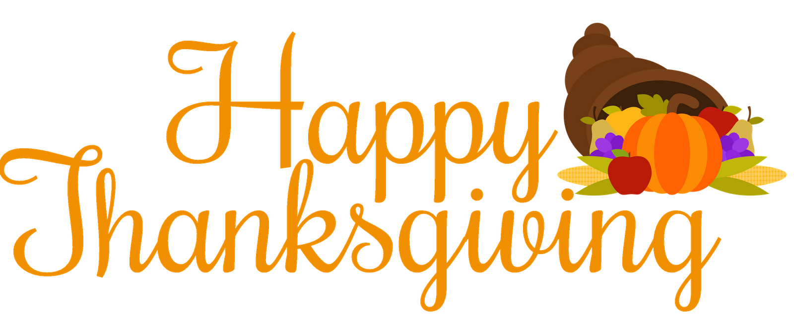 Happy thanksgiving words clipart graphic library stock 28+ Collection of Free Clipart For Happy Thanksgiving | High quality ... graphic library stock